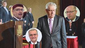 Zemanovi na inauguraci přijde i Sobotka a Kalousek. Kdo naopak nedorazí?