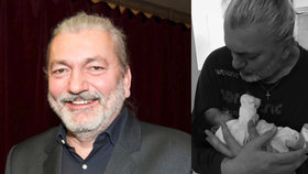 Urostlý zpěvák Hůlka úplně naměkko: Dcera v jeho tlapách vypadá jako hračka!