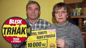 S Bleskem vyhráli Kubínovi podruhé: 10 tisíc korun za věrnost! Uděláme šťastné své dcery, říkají
