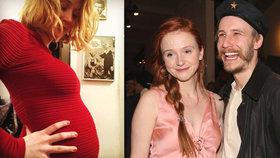 Herečka Marie Doležalová je těhotná! Tajila to 5 měsíců!
