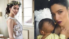 Krásná Eva Burešová loni porodila, teď se fotí ve svatebních šatech! Chystá veselku?