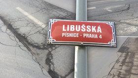 Hrboly a výmoly v Písnici vezmou za své: Po Velikonocích začne rekonstrukce Libušské ulice