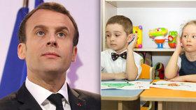 Do školy povinně už od tří let. Macron kvůli teroru razí radikální reformu