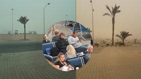 Písečná bouře v Egyptě uvěznila Čechy: museli zůstat v hotelu, nešlo odletět ani přiletět
