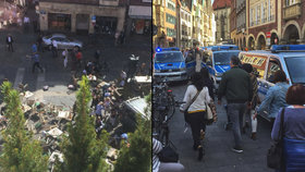 V Německu najel náklaďák do lidí na restaurační zahrádce. Pachatel se zastřelil