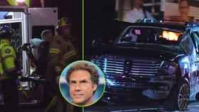 Vánoční skřítek Will Ferrell měl autonehodu: Se zraněními ho odvezli záchrankou!