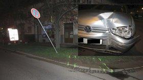 Šílená jízda nočním Znojmem: Opilý a zdrogovaný šofér naboural rodinný dům