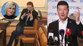 Sněmovní špeky: Černochová šila do Piráta v džínách, Okamura zmateně vybízel k demisi