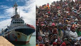 Italové zadržují loď německých aktivistů. Prý uprchlíkům pomáhají nelegálně do Evropy