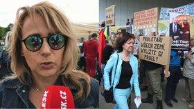 Krnáčová přišla na 1. máje s omluvou, Jakeš chyběl a policie zasahovala v Plzni
