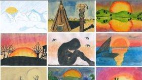 Zářivé slunce dětskýma očima: V újezdském muzeu vystavují tvorbu místních školáků