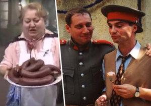 Tajemství Četnických humoresek: Herci během natáčení spořádali jídlo za statisíce!