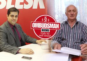 Ombudsman Blesku: Půjčil na byt synovi, ten začal pít, zavřeli ho a děti skončily bez střechy nad hlavou