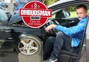 Boural se služebákem bez zimních pneumatik a zákonného pojištění, chce aby platila firma