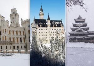 Opravdová zimní pohádka: Podívejte se na nejkrásnější zámky pod sněhovou peřinou