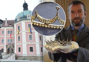 Nový poklad v Bečově: Po relikviáři našli briliantovou korunku šlechtičny!