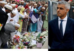 Muslimský starosta při pietě v Londýně: Nechutné činy nejsou ve jménu nás