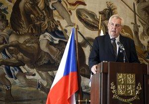 Prezident Miloš Zeman na Hradě