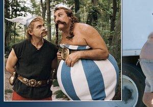 Depardieu se vyžral do podoby filmového Obelixe. Pruhovaný pupek by dneska už vycpávat nemusel