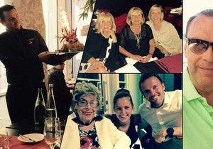 Tajná oslava 59. narozenin Štefana Margity