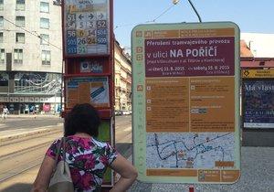 Tramvajové výluky v Praze ještě zdaleka nekončí.