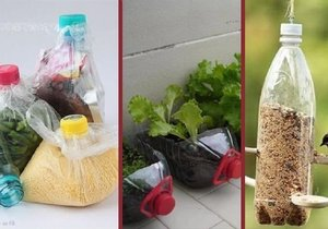 Z prázdné PET lahve se dá vyrobit celá řada praktických věcí.