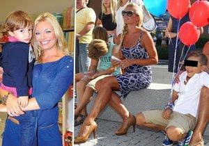 Lucie Borhyová povede syna Lucase poprvé do školy, za kterou zaplatí téměř milion Kč.