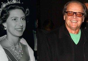Sestra královny Alžběty Margaret: Jack Nicholson ji prý nabízel kokain