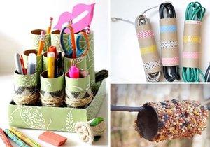 Pro prázdné ruličky od toaletního papíru a kuchyňských utěrek najdete v domácnosti mnoho využití.