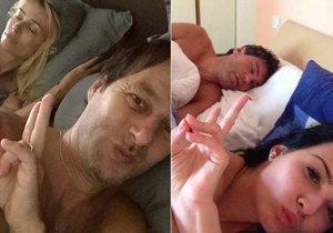 Habera si vystřelil z Jágra a vyfotil stejné selfie z ložnice.