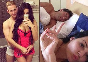 Katka si udělala selfie v posteli s Jágrem, ale dušuje se, že svého přítele Dominka Rudla nepodvedla. Dostane kopačky?
