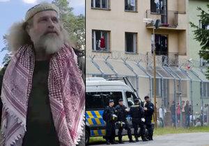 Aktivista a performer Milan Kohout se vydal do Bělé, aby si odbezl uprchlíka.