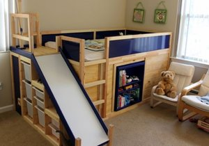 Eric Strong svému synovi vyrobil postel, po které touží každý malý kluk.