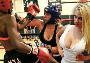 Brye Anne je bojovnice mma zřejmě s největšíma prsama.