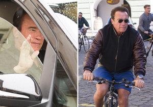 Terminátor Arnold Schwarzenegger odletěl z Prahy.