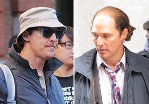 Matthew McConaughey pěkně sešel. Pleš si pořídil kvůli roli, pupek je ale jeho vlastní.