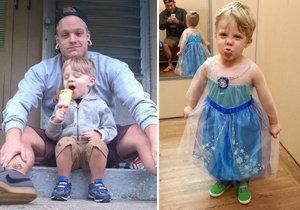 Na maškarní chtěl za princeznu: Tatínek mu to povolil a také oblékne sukni!