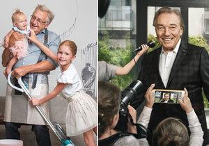 Na uměleckých fotografiích s dětmi se pro dobrou věc nechal zvěčnit Karel Gott a Jiří Menzel.