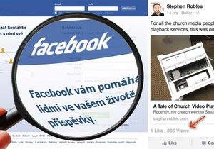 Na mobilní verzi Facebooku se objevila chyba, která odhalila počet zhlédnutí příspěvků.