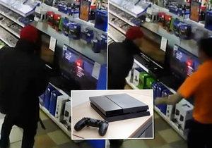 Úchyl onanoval v obchodě nad PlayStation 4.