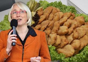Nezdravá česká kuchyně a europoslankyně Olga Sehnalová (ČSSD)