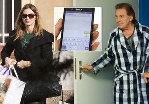 Ivana Gottová rozeslala skupině Karlových přátel SMS zprávu s instrukcemi.
