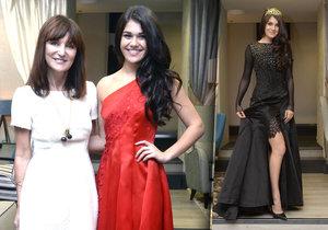 Jako hvězda vyrazí Andrea Kalousová (18) do daleké Číny. Na Miss World chce oslnit hlavně drahými černými šaty, ve kterých připomíná Večernici.