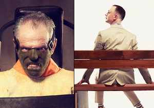Čeští herci pro charitativní Kalendář Proměny 2016 trpěli v maskérně, aby se z nich staly světoznámé postavy z hollywoodských trháků.