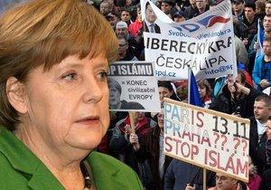 Protesty i uzavírky: Merkelová míří do Prahy. Bude řešit uprchlíky i vědu