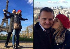 Kateřina Klasnová s Vítem Bártou v Paříži
