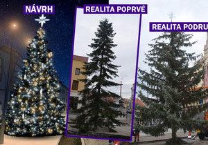 Jedny Vánoce, jedno město, tři stromy.