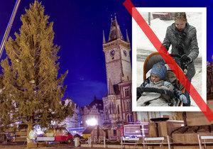 Pražské Vánoce pod dozorem agentů: Omezení pro kočárky, stopka pro auta