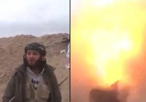 Islamista při natáčení propagandy vyletí do vzduchu.