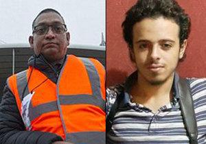Salim Toorabally (vlevo) zachránil pařížský stadion před teroristickým útokem sebevražedného atentátníka Bilala Hadfiho.